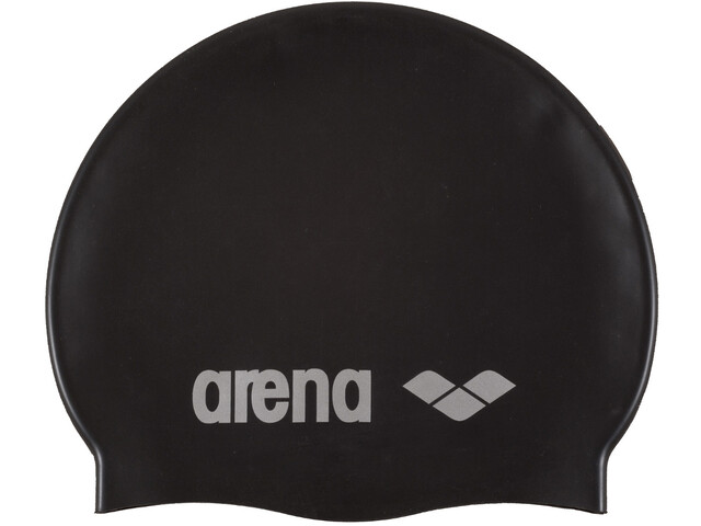 arena Classic Silicone Badehætte, black-silver